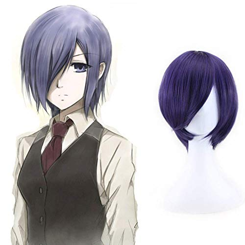 CAR-TOBBY Anime Cosplay Pruik voor Tokyo Ghoul Touka Kirishima blauw paars Pruik