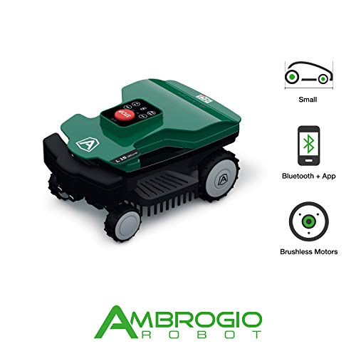 Ambrogio Robot AM015D0F9Z Rasaerba Zucchetti Ambrogio L15 Deluxe Mähroboter für bis zu 600 m2, mq
