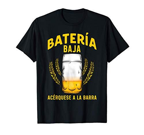 Regalo Original Friki Camisetas Cerveza Beer Batería Baja Camiseta