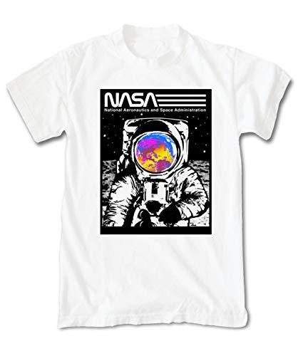 Riot Society NASA Astronaut Moon 2.0 Mens T-Shirt - White, Small