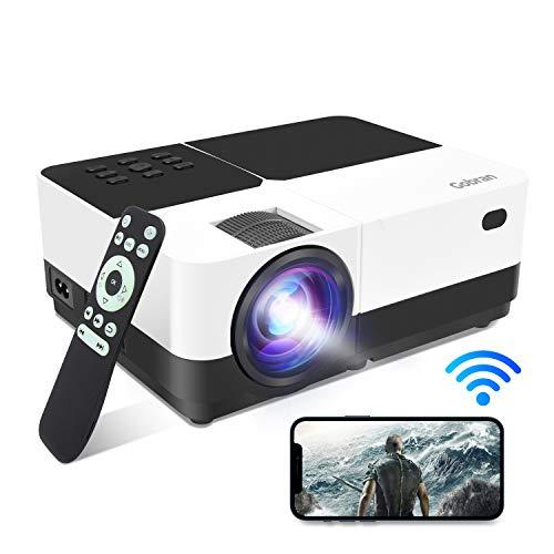 Proiettore WiFi Videoproiettore Supporta 1080P 6500Lumen Full HD Condiviso Schermo Cellulare/Connessione Wireless,Proiettore Home Theater Adatto per Smartphone iOS/Android/Telecamere/PC/Console Gioco