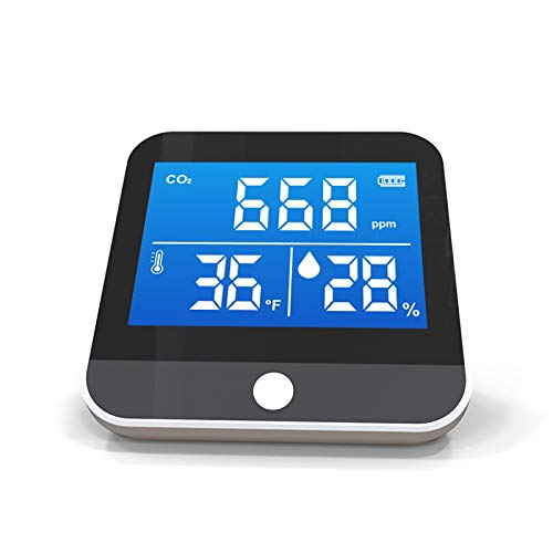 KKmoon CO2 Kohlendioxid Detektor 400-5000PPM mit Temperatur-Feuchtigkeits-Anzeige Hochgenaue Effiziente CO2 Messgerät Infrarot-NDIR-Luftqualität Messgerät