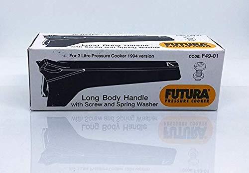 Finaldeals Olla a presión con mango de cuerpo largo con tornillo y arandela de resorte para olla de presión Futura código F49-01 piezas de repuesto de la olla de presión accesorios de cocina