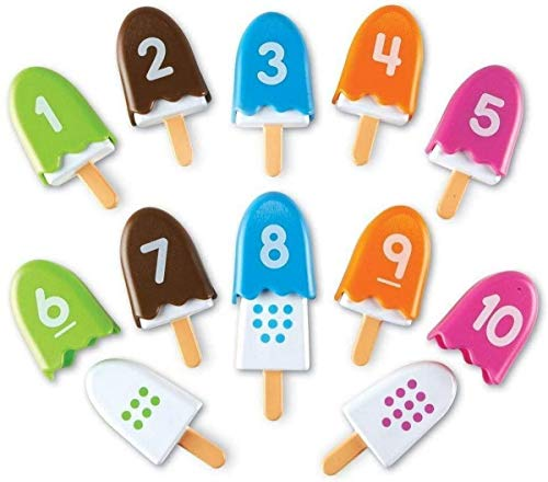 Learning Resources Smart Snacks Number Pops, Fine Motor Toy, Set of 10, Ages 18 mos+