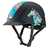 Troxel Spirit Pop Art Pony Horse Riding Western Helmet Low Profile Adjustable (XS)