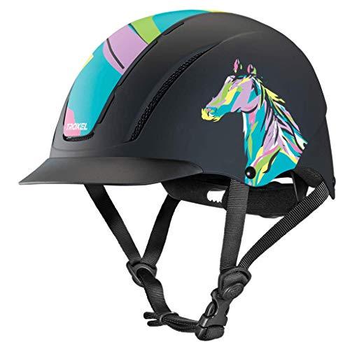 Troxel Spirit Pop Art Pony Horse Riding Western Helmet Low Profile Adjustable (Medium)