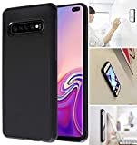 Goat Case for Galaxy S10 with Dust Proof Film, Magic Nano Hands Free Stick to Wall Anti-Gravity Case Black Anti Gravity Case for Galaxy S10