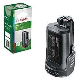 Batterie Lithium-ION Bosch – pour Outils sans Fil (Système 12 V/10,8V -2,5Ah) & F016800371 Set de 5 Lames pour Coupe…