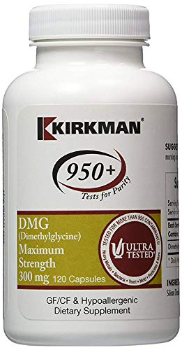 DMG (Dimethylglycine) Maximum Strength 300 mg (120 caps) - Hypoallergenic - Kirkman Laboratories