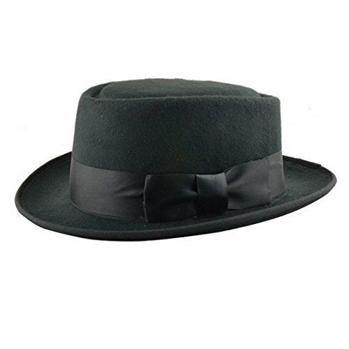 Xcoser Breaking Bad Hat Walter White Cosplay Heisenberg Hat Pork Pie Cap in Black