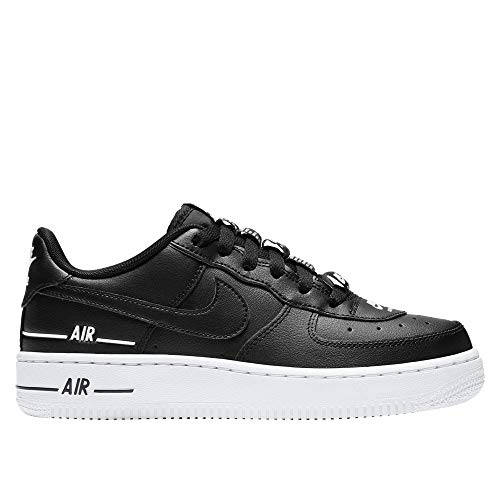 Nike Boys AIR Force 1 LV8 3 (GS) Basketball Shoe, Black/Black-White