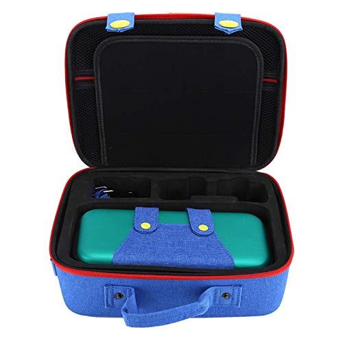 Bolsa de transporte para Nintendo Switch, bolsa de almacenamiento multifuncional para máquinas tragamonedas Protección de paquete Eva grande/pequeña para Switch (Verde Azul)