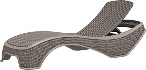 Homeology MALDIVES Grey Prestigious Outdoor Rattan-Style Adjustable Sun Lounger Pre-Assembled