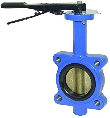 "Dixon BFVL300E Lug Style Threaded Butterfly Valve, EPDM Liner, Bronze Disc, 3"" from Dixon"