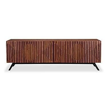 Kardiel STO-SB-SEMIBREVE-WAL Semibreve Mid-Century Modern Credenza, Walnut Wood