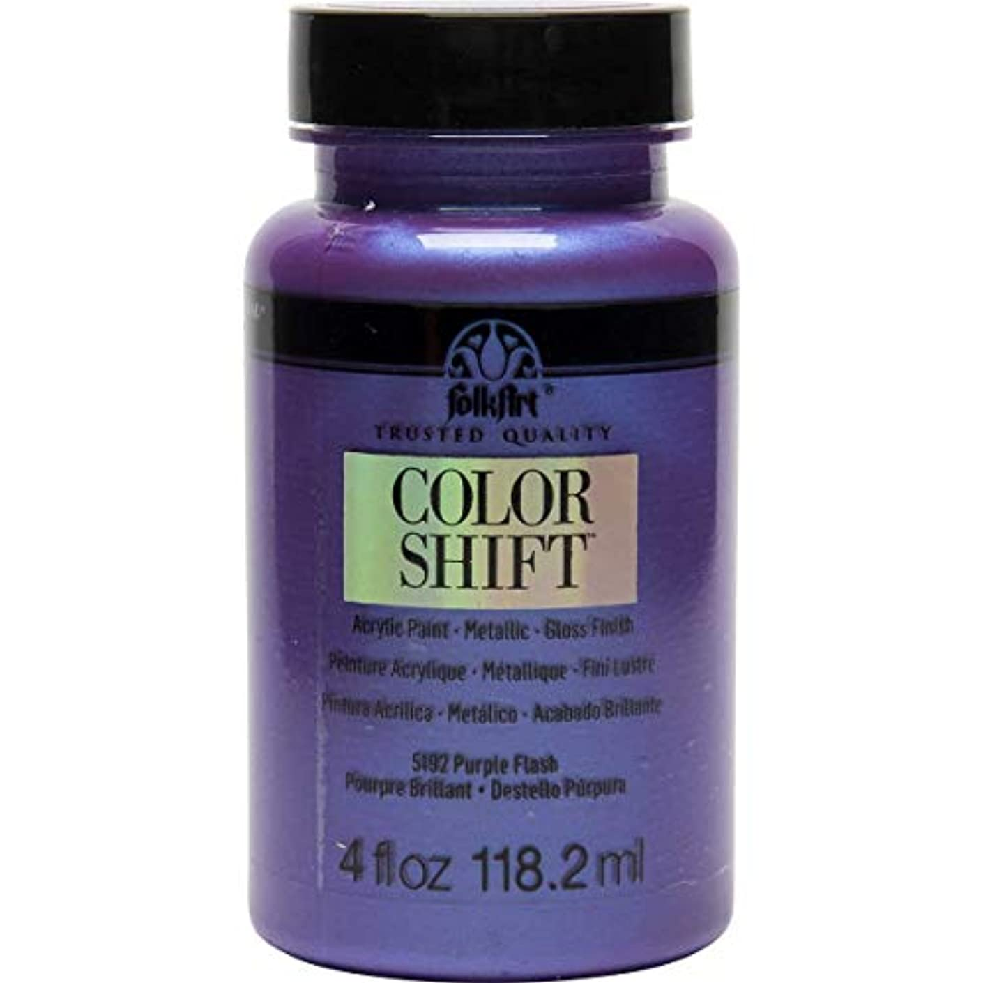 FolkArt Color Shift Acrylic Paint in Assorted Colors (4 oz), 5192 Purple Flash