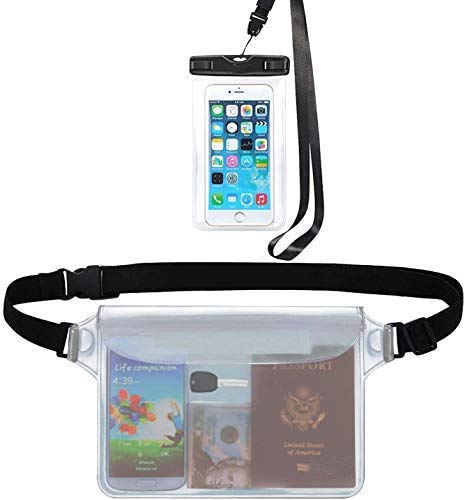 Universal Waterproof Dry Bag and Waterproof Cell Phone Bag for Outdoor Water Sports, Boating, Hiking, Kayaking, Fishing, Beach Snorkeling