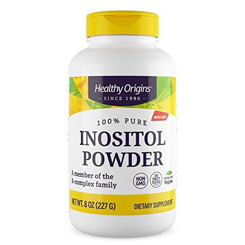 Healthy Origins | Inositol Powder ( Poudre d'Inositol ) | 227 g | Végétalien | Sans Soja | Sans Gluten | Sans OGM