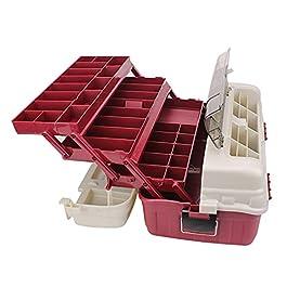 liangzishop Boîte À Outils Boîte à Outils Portable Cas de Stockage de matériel de pêche Durable Multicouche 4 Couches…