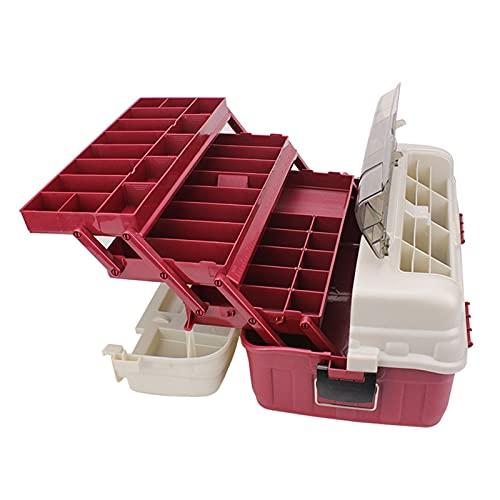 Caja de Herramientas Caja de herramientas portátil Caja de almacenamiento de hardware de pesca Durable Multi-capa 4 capas Organizador de plástico para el hogar Empresarios de almacén de oficina Maletí