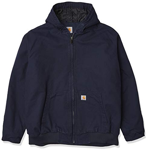 Carhartt Men's Loose Fit Washed Duck Insulated Active Jacket (Regular and Big & Tall Size), Navy, 2X-Large/Tall