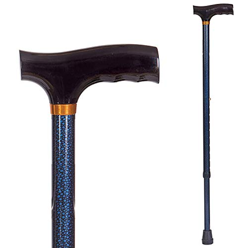 DMI Lightweight Aluminum Adjustable Walking Cane with DerbyTop Handle for Men and Women Blue Ice