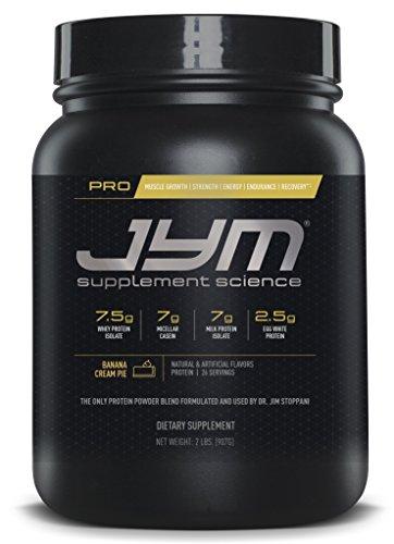 Pro Jym Protein Powder - Egg White, Milk, Whey protein isolates & Micellar Casein | JYM Supplement Science | Banana Cream Pie Flavor, 2 Lb