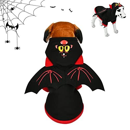 Halloween Costume Cane, Costume Halloween Gatto, Halloween Animali Costumi,ali di Pipistrello Clothes per Gatti/Cani per Halloween, Natale, Carnevale Cosplay Party.