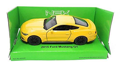 Welly DieCast metall Modellauto 1:36-39 Ford Mustang GT 2015 gelb neu und box