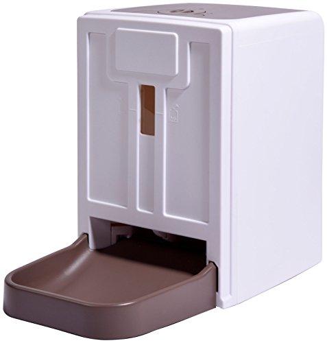 dobar 50131 Grote automatische voederautomaat voor honden en katten, programmeerbare voederdispenser met spraakbericht, wit