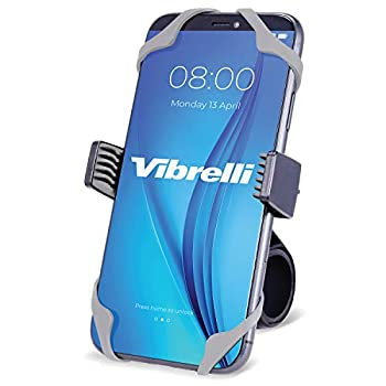 Vibrelli Motorcycle & Bike Phone Mount   Handlebar Phone Holder for Bikes Bicycles Scooter ATV   Fits  iPhone 11 XR X XS 8 8 Plus 7 7 Plus 6 6 Plus   Galaxy S10 S9 S8