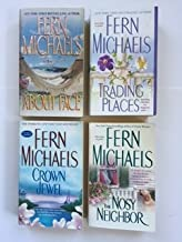 Fern Michaels (4 Book Set) About Face -- Trading Place -- Crown Jewel -- The Nosy Neighbor.