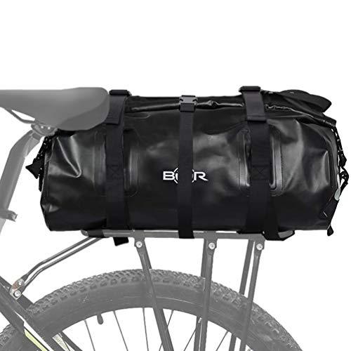 BTR Waterproof Dry Rear Rack Cargo Bike Pannier Bicycle Bag. Approx 20L Capacity. Recyclable Cardboard Packaging