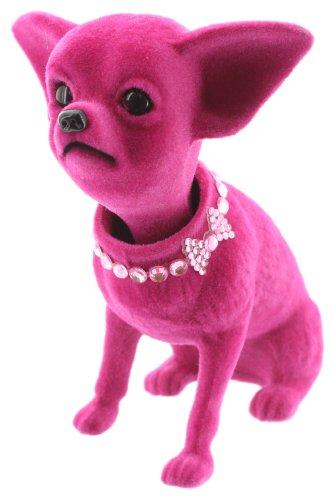 Melancholita Wackelhund Wackelkopf Chihuahua ideal für das Auto (Pink)