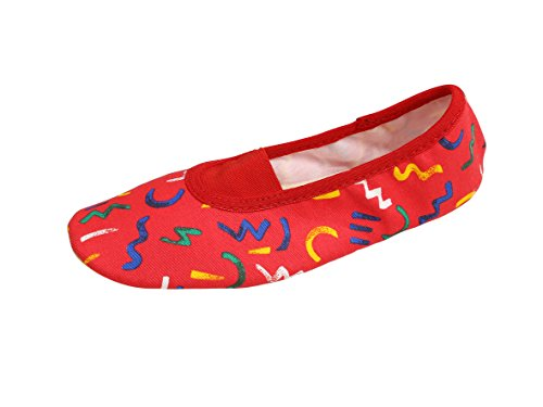 YUMP YUMPZ Unisex Gymnastic Ballet Shoes from Germany - For Boys & Girls - UK Kids Sizes 5 1/2 - Adult Size 2 1/2 (EU Sizes 22 - 35) Red Size: 23 EU