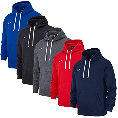Nike Team Club 19 Hoodie Hoodie Homme Charcoal Heather/Anthracite/Blanc/Blanc FR : 2XL (Taille Fabricant : 2XL)