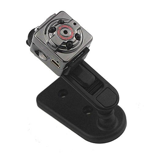 Mengshen Full HD 1080P 30fps Pocket Digital Video Recorder Camera Camcorder Ultra-Mini Metal DV Support Motion Detecting with IR Night Vision MS-SQ8Black