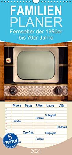 Fernseher der 1950er bis 70er Jahre: In die Röhre geguckt - Familienplaner hoch (Wandkalender 2021, 21 cm x 45 cm, hoch)