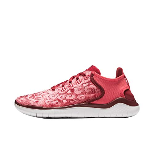 Nike Women's Free RN 2018 Wild Velvet Running Shoe (9.5 M US, Red Crich/Trophy Gold)