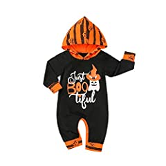 Material: Cotton Blend.high quality materials,Soft hand feeling, no any harm to your baby skin. Special design:casual style top, lovely, cute and comfy baby halloween gift. Occasion:suitable for playing outside, Halloween party,daily wear, family day...