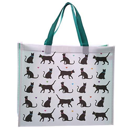 Puckator Love My Cat Design-Einkaufstasche, gemischt, Höhe 33 cm, Breite 40 cm, Tiefe 16,5 cm