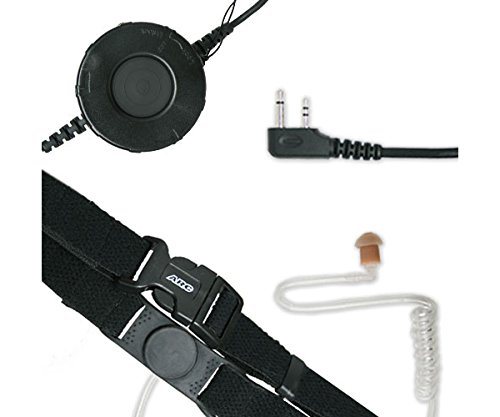 Best Buy! ARC T25011 Neck Strap Tactical Throat Mic for Icom 2-Pin Side Connector Two Way Radios