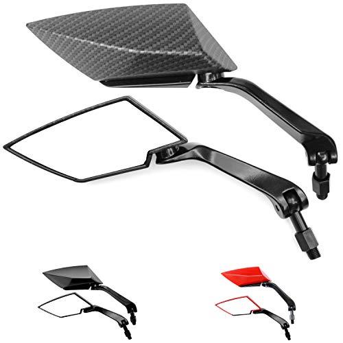 Universal Motorrad Motorroller Spiegel Set, F1 Ultimate (2x M10 Rechtsgewinde) (Carbon)