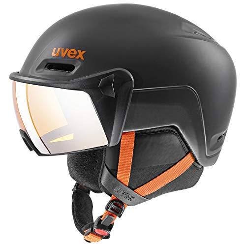uvex Unisex– Erwachsene hlmt 700 Visor Skihelm, Dark Slate orange, 55-59 cm