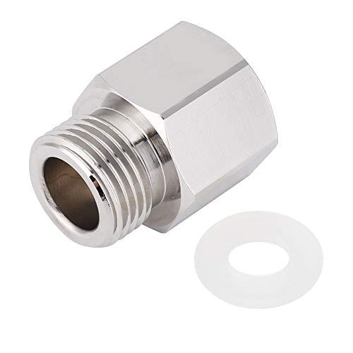 Vbest life Silber Soda Stream Adapter, Aluminium TR21-4 auf W21.8 Gas CO2 Nachfüll Soda Stream Konverter für Aquarium Zylinder