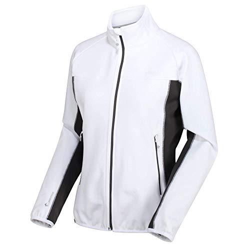 Regatta Softshelljacke Yare Ii mit Stretchanteilen und warmer Rückseite Soft Shell Damen XL Weiß/Schwarz.