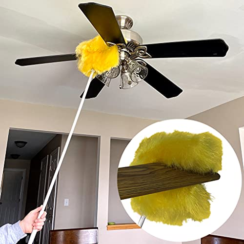 Evelots Ceiling Fan Duster-Up to 9 Feet Reach-2 Sides-Microfiber-All Size Blades