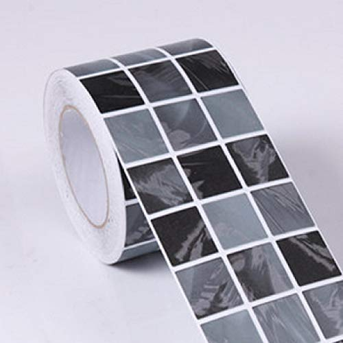 LZYMLG Mosaico clásico Dtickers Vinilo Impermeable Cintura Autoadhesivo Papel pintado para cocina Baño Azulejos Pvc Pared Etiqueta Fronteras F
