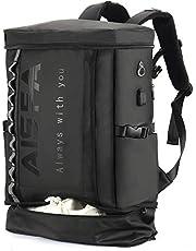 リュック メンズ バックパックAISFA スクエア リュックサック 防水15.6インチ PC ビジネスリュック ラップトップバック 2層式 拡張機能大容量 靴/弁当収納 USB充電ポート付き 30L アウトドア旅行 多機能通気性 A4収納多ポケット 男女兼用