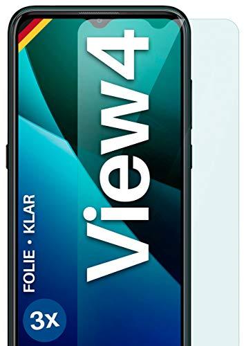 moex Klare Schutzfolie kompatibel mit Wiko View4 - Bildschirmfolie kristallklar, HD Bildschirmschutz, dünne Kratzfeste Folie, 3X Stück